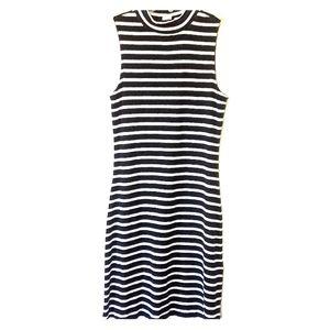 High Neck Striped Gap Dress